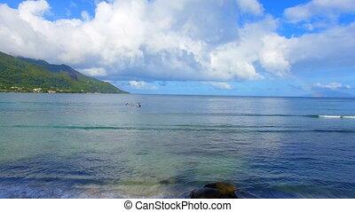 Aerial View Of The Ocean, Beau Vallon Beach, Mahe Island, Seychelles 2