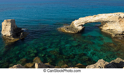 Sea shore at summer - Sea shore with clear water