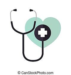 stethoscope medical isolated icon
