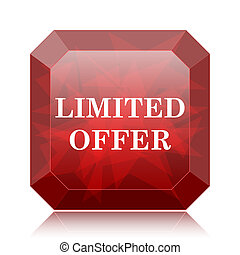 Limited offer icon, red website button on white background.