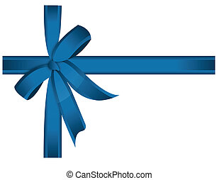 blue cross ribbon and bow. Vector file available.