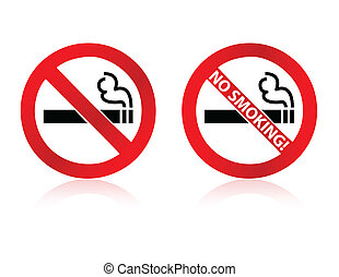 No Smoking - An image showing two different no smoking signs...