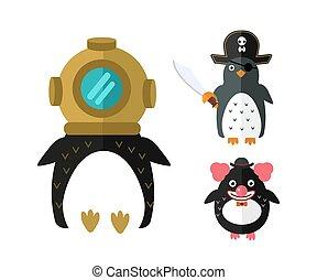 Penguin vector animal character illustration. - Penguin...