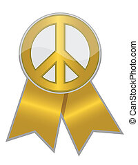 Golden Peace Ribbon
