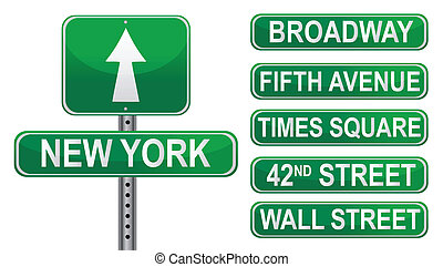 New York Street signs. Vector File available.