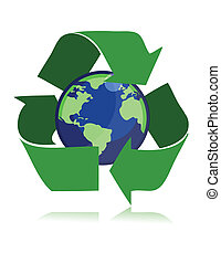 Recycle / vector - Protect the World from polution. vector...