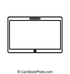 tablet electronic device icon vector illustration design