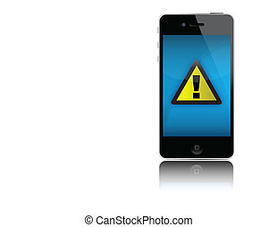 Iphone no signal - No coverage iphone Problem sign in modern...