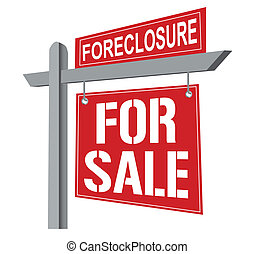 Foreclosure Sign - Street Foreclosure Sign. vector file also...