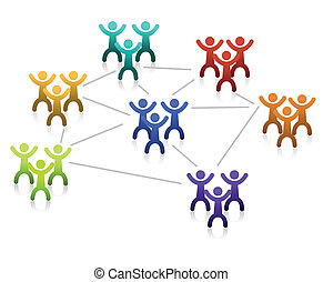 Networking Teamwork - Networking teamwork graph isolated...