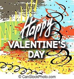 Happy Valentine's Day Unusual Fun Congratulation Card Hand...