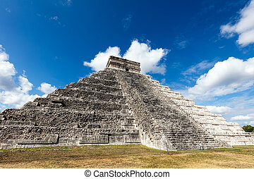 El Castillo pyramid in Chichen Itza - El Castillo, a.k.a the...