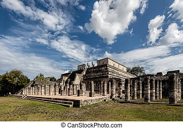 Temple of a Thousand Warriors in Chichen Itza - Temple of a...
