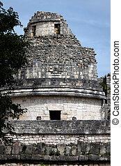 itza,  Chichen, torre,  caracol,  el