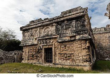 Ancient Mayan governmental palace in Chichen Itza - Ancient...