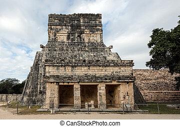Chichen,  itza,  México, templo, jaguares,  Yucatán