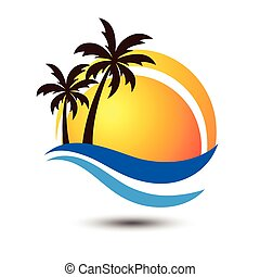 Summer logo - Summer holidays design Labels, Badges,emblem...