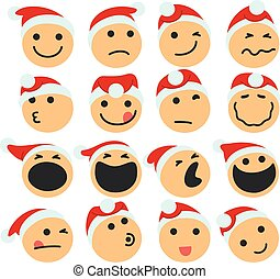 st_claus_icons.eps - Vector Illustration Of A Set Of St...