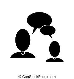 people talking bubble speech communication pictogram