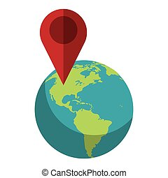 world global pointer map direction