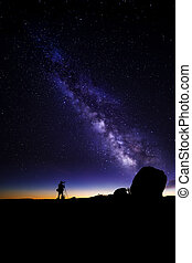 Astro Photographer - Photographer doing astro photography in...