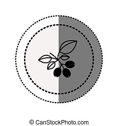 monochrome sticker contour in circular dot line with coffee...
