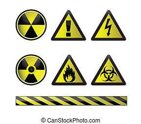 Warning symbols / Vector