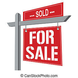 For sale Sign - Sold for sale sign. Vector File available.