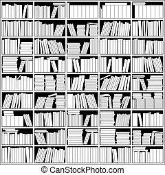 Bookshelf In Black And White