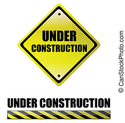 Under construction signs. vector file also available