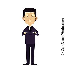asian man business leadership with suit tie