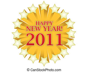 Happy New Year 2011 - Happy new years 2011 logo isolated...