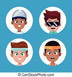 set face boys players sport different