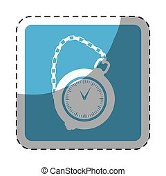 pocket watch icon image, vector illustration image