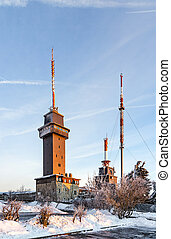 Mount Grosser Feldberg, highest peak of the Taunus mountains near Frankfurt.