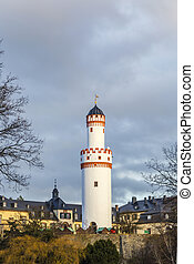 Castle Bad Homburg and watchtower in Hessen, Germany -...