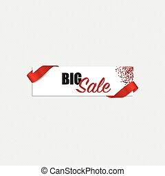 Sale Coupon, voucher, tag design. Vector illustration