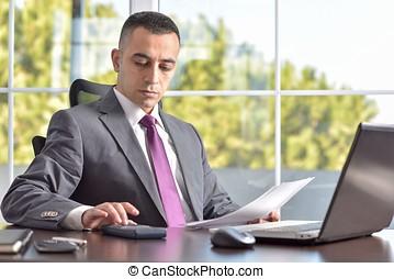 Serious Boss Or Businessman Portrait - Portrait Of A Serious...