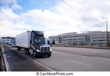 seco, furgoneta, semi, moderno, Oscuridad, camión, taxi,...
