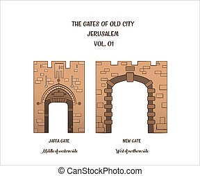 Gates of Jerusalem, Jaffa Gate, New Gate - The gates of the...