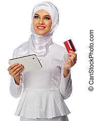 Young muslim woman isolated