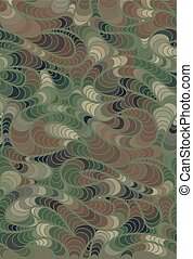 Vector wave background of drawn lines - Abstract vector wave...