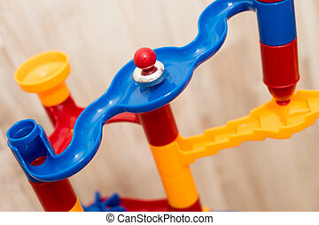 Marble railway - Colorful marble railway to assemble and...