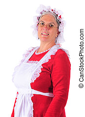 Mrs. Santa Portrait - Head and shoulders portrait of Mrs....