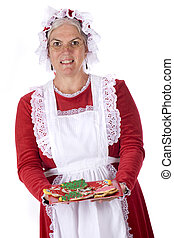 Cookies from Mrs Santa - Mrs Santa offering the viewer a...