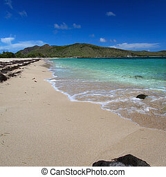 Beautiful beach on Saint Kitts - Majors Bay Beach on the...