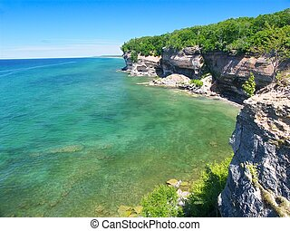 Pictured Rocks National Lakeshore - View of Lake Superior...