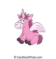 Cartoon stuffed toy - Cute cartoon animal. Stuffed unicorn....