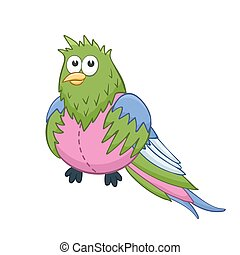 Cartoon stuffed toy - Cute cartoon animal. Stuffed quetzal....