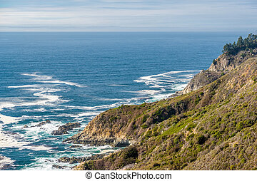 USA Pacific coast landscape, California.